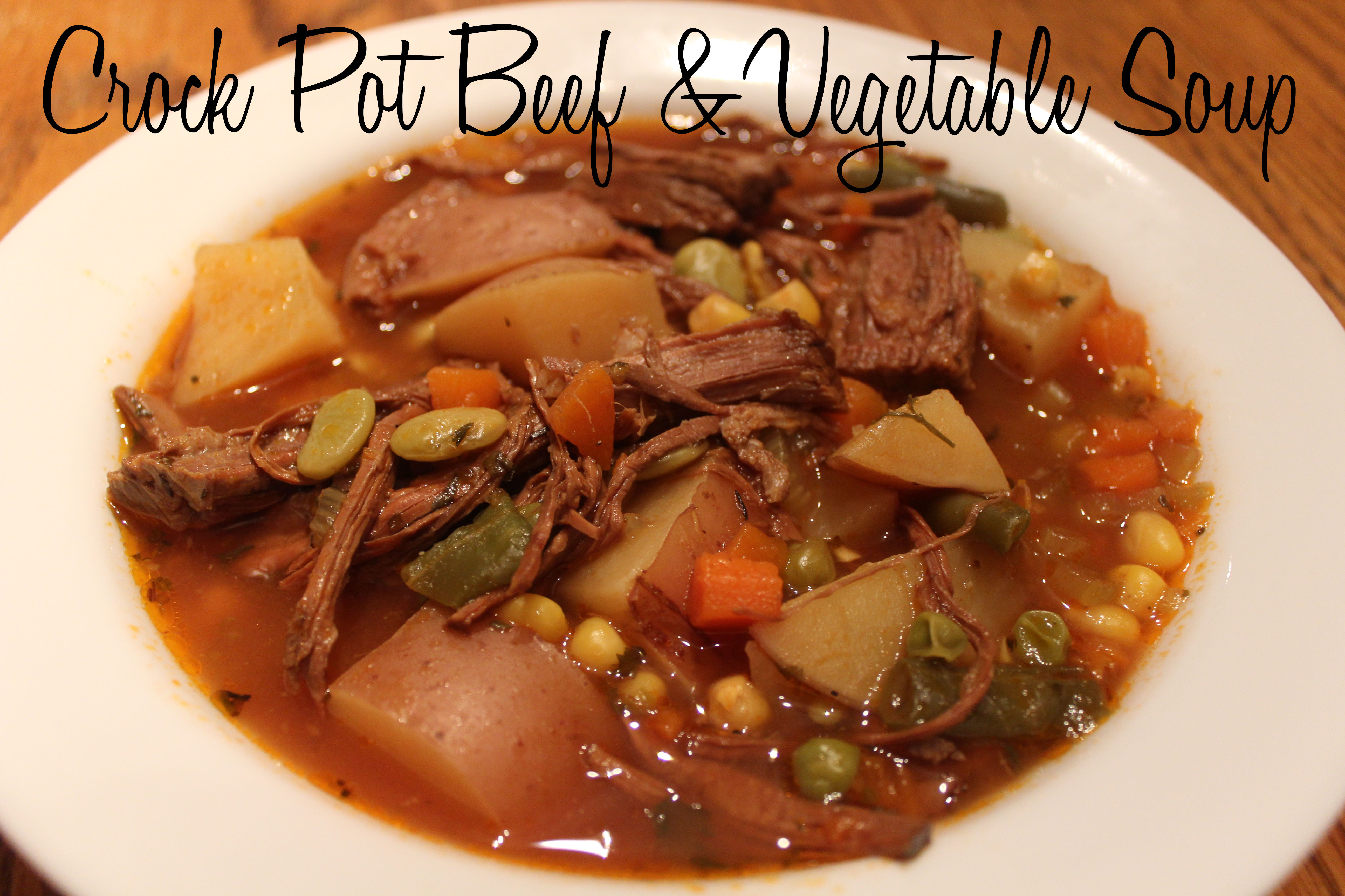 Crock Pot Beef Amp Vegetable Soup The Project Board